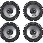(2) Pairs Alpine SXE-1725S 6.5″  80 Watt RMS 4 Ohm 2-Way Coaxial Car Audio Speakers