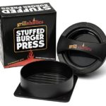 Grillaholics Stuffed Burger Press and Recipe eBook – Extended Warranty – Hamburger Patty Maker for Grilling – BBQ Grill Accessories