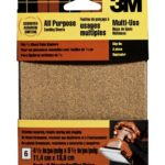 3M 9223NA 4.5-Inch by 5.5-Inch Clip-On Palm Sander Sheets, Asst grit, 6-pack