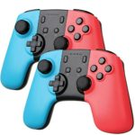 Sunjoyco Wireless Remote Pro Controller Joypad Gamepad for Nintendo Switch Console – Blue + Red (2-Pack)