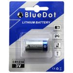 Bluedot Trading 1 New High Quality Lithium Battery Cell, Single CR123A Battery
