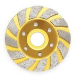 Diamond Segment Grinding Cup Wheel Disc Grinder Concrete Granite Stone for Angle Grinder by – Extra-Perseverance (Golden)