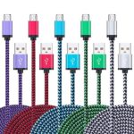 Micro USB Cable,5Pack 6FT/2M Ailkin Quick Charge Cable Braided Micro USB 2.0 A Male to Micro B USB Charger Cord for Samsung Galaxy S6 S7 Edge Plus, LG,Moto X, HTC, Android Tablets and More