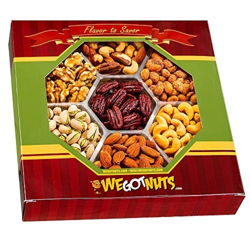 We Got Nuts Gift Baskets, Holiday Nuts Gift Basket – Delightful Gourmet Food Gifts Prime Delivery -Birthday, Christmas, Mothers & Fathers Day Fruit Gift Box Assortment, Men, Women, Families & Corporat