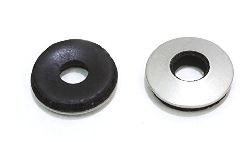#10 x 1/2″ OD Stainless EPDM Washers, (100 pc) Neoprene Backed, Choose Size & QTY, By Bolt Dropper.