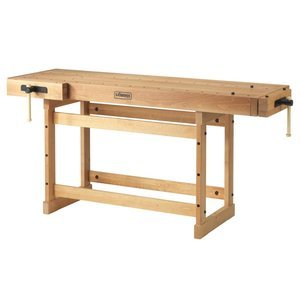 Sjobergs SJO-33279 Large Beech Woodworkers Cabinetmaking Workbench Scandi Plus With Two Large Vices