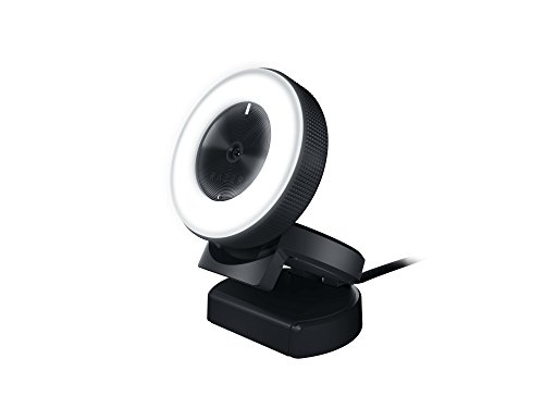 RAZER KIYO: Full HD 1080p 30FPS / 720p 60FPS – Built in Adjustable Ring Light – Advanced Autofocus Feature – Streaming Web Camera