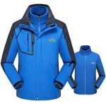 Sunhusing Men/Women Fleece Liner Plus Size Hoodie Two Piece Set Sport Assault Coat Outdoor Jacket