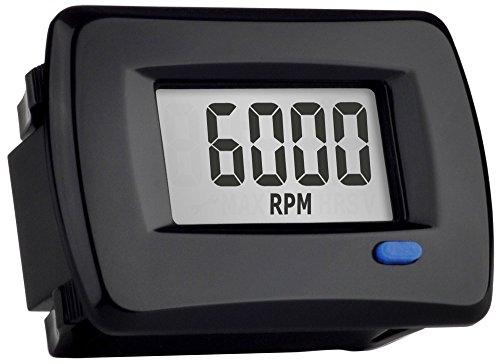 Trail Tech 732-A00 Black Panel Mount TTO Digital Tachometer plus Hour Meter,1 Pack