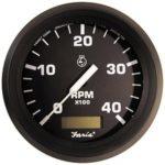 Faria Euro 4″ Tachometer w/Hourmeter (4000 RPM) (Diesel) (Mech Takeoff & Var Ratio Alt)