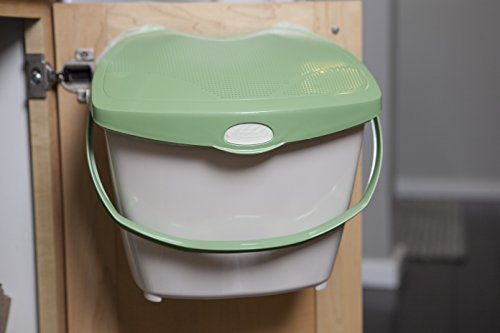 Mountable Kitchen Compost Bin by Zero Waste Together – 2 Gal, Under Sink, Countertop, Odor Free, Dishwasher Safe, Bags Ok, Made in Canada