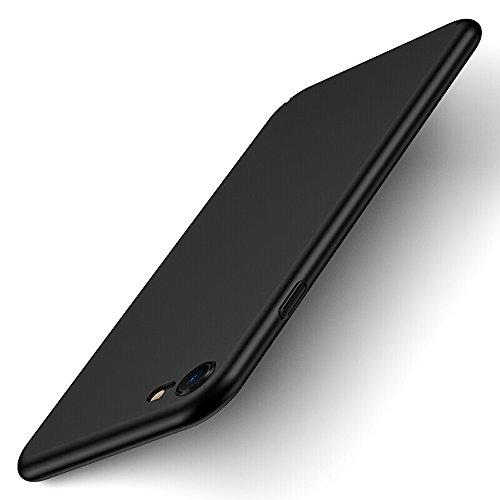 iPhone 8 Case,iPhone 7 Case, Pomufa Case Cover Ultra Slim Premium Flexible TPU Back Plate Full Protective Anti-Scratch Cover Case for Apple iPhone 8 iPhone 7 (Black)
