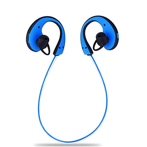 Bluetooth Headset, Waterproof Outdoor Sports LED Light Headphones (Color : Blue)