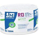Johns Manville 90013166 Kraft-faced R-13 Fiberglass Insulation Roll, 15″ X 32′ by Johns Manville