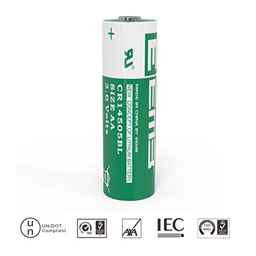 CR14505BL-AA Size Lithium Battery 3.0V,1800mAh- (UL Certified)- Non Rechargeable- High Capacity Type – Perfect for electricity meters, Medical Devices & Various Applications (1 Pack)- EEMB Battery