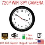 SecureGuard 720P XWALL Xtreme WIFI Battery Powered Wall Clock Spy Camera Wireless IP P2P Wi-Fi Mobile Hidden Nanny Cam Spy Camera Gadget (UP TO 1 YEAR BATTERY LIFE)