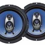 """Pyle 6.5"""" Three Way Sound Speaker System – Round Shaped Pro Full Range Triaxial Loud Audio 360 Watt Per Pair w/ 4 Ohm Impedance and 3/4"""" Piezo Tweeter for Car Component Stereo PL63BL"""
