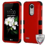 MyBat Cell Phone Case for LG X210 (Aristo 2), LG SP200 (Tribute Dynasty), LG K8 (2018), Natural Red/Black Solid