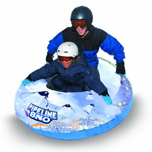 Pipeline Sno Penguin Inflatable Snow Tube, 50″ Diameter, Clear/White/Blue