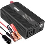 500W Auto Power Inverter Dc 12V To Ac 110V 120V  Car Converter With 4.2A Dual Usb And 2 Ac Outlets For Smartphones, Tablet, Laptop,Nebulizer