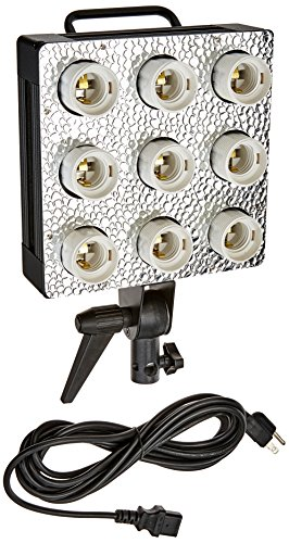 Fotodiox C-900 Cool Light Fixture – 9 Bulb Fixture w/Dedicated Softbox Mounting for Compact Fluorescent Bulbs