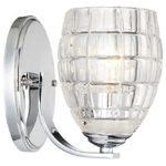 Minka Lavery Wall Light Fixtures 3421-77 Austine Wall Bath Vanity Lighting, 1-Light 100 Watts, Chrome