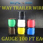 14 GAUGE TRAILER LIGHT WIRE 700 FT ENNIS ELECTRONICS 7 WAY TRAILER LIGHT 100 FT SPOOLS PRIMARY CABLE BROWN GREEN YELLOW WHITE RED BLUE BLACK