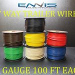 12 GAUGE TRAILER LIGHT WIRE 700 FT ENNIS ELECTRONICS 7 WAY TRAILER LIGHT 100 FT SPOOLS PRIMARY CABLE BROWN GREEN YELLOW WHITE RED BLUE BLACK