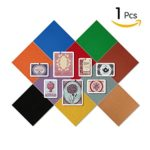 Jouyous Journey 12'' x 12'' Self-Adhesive Cork Bulletin Board, Square Type Colorful Decorative Cork Tiles Notice Board Photo Board with Self-Stick Backing (Orange)