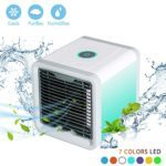 Simfonio Arctic Air Portable Air Conditioner, Mini Air Conditioner Fan 3 in 1 USB Air Cooler Personal Air Purifier Humidifier with 7 Colors LED Lights Cooling Desktop Fan for Home Office Bedroom