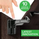 Cabinet Locks Child Safety – Cabinet Latches/Locks, Baby Proofing Cabinet System, Prevents Toddler Injuries and Provides a Slick Invisible Look !! (10 Pack – Black)