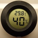 Digital Cigar Humidor Hygrometer Thermometer 1 3/4″ Inch Round Black Face 001-C