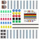 LAFVIN Electronics Component kit with resistors,Pin Header,LEDs, Switch, Potentiometer,for Arduino UNO, MEGA2560
