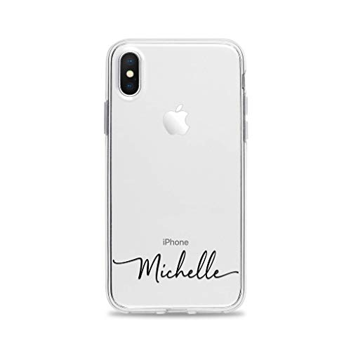 Custom Handwritten Name Clear Phone Case for iPhone XS X 10 8 Plus 7 6s 6 SE 5s 5 Samsung Galaxy S9 S8 S7 edge S6 Personalized