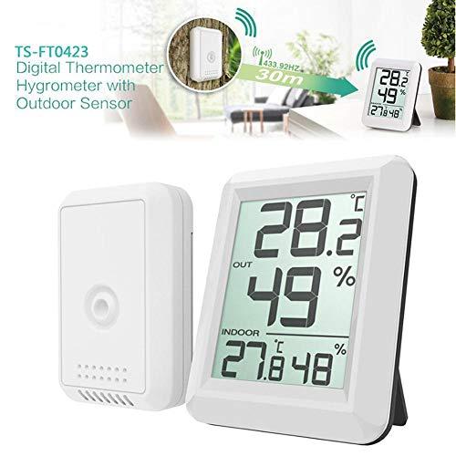 FidgetFidget Wireless Indoor Outdoor Digital LCD Hygrometer Thermometer Humidity Temp Meter