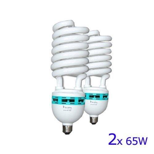 LimoStudio 65 Watt Fluorescent Full Spectrum Pure White Daylight Balanced Studio Light Bulb, AGG118-A