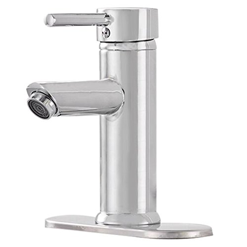 Greenspring Centerset Single Handle Bathroom Sink Vessel Faucet Stainless Steel Basin Mixer Taps,Chrome Finished