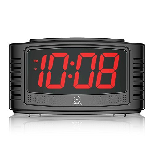 DreamSky Little Digital Alarm Clock with Snooze, 1.2″ Clear Led Digit Display with Dimmer, Simple to Operate, Plug in Clock for Bedroom.
