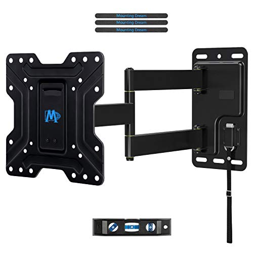 Mounting Dream MD2210 Lockable RV TV Wall Mount for Most 17-39 Inch LED, LCD, OLED and Flat Screen TVs on Motor Home Camper Truck Trailer Marine Boats with Swivel/Tilt/Extension Arms RV Mount