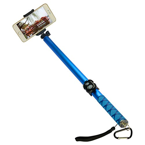 TeslaHome Extra-long Selfie Stick, 3-Meter(118-Inch) Long Foldable Selfie Stick with Wireless Bluetooth Remote shutter,Adjustable Holder for all Smartphone.(Blue)
