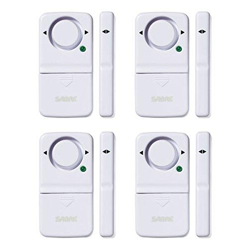 SABRE Wireless Home Security Door Window Burglar Alarm with LOUD 120 dB Siren – DIY EASY to Install