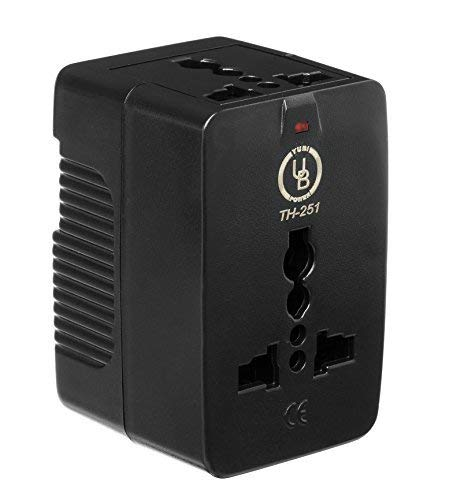 Yubi Power Universal Travel Adapter 2 Universal Sockets Covering More Than 150 Countries – US, UK, EU, AU – Black