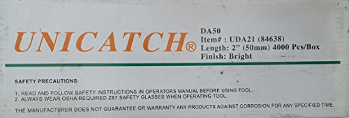Unicatch DA21 2″ 15 Ga Finish Nail Bright 4,000/box