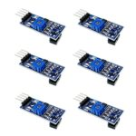 CHENBO 6pcs TCRT5000 Infrared Reflective IR Photoelectric Switch Barrier Line Track Sensor Module for Arduino Smart Car w/Cable 3.3V-5V