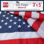 BBI Flags American Flag: 100% Made in USA Flag, Tough Nylon US Flag with Embroidered Stars & Sewn Stripes, Indoor/Outdoor United States Flag with Brass Grommets – 3×5 American Flag (3×5)
