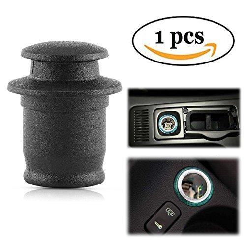 Ansblue Car Power Socket Lighter Cigarette Outlet Cover,Car Cigarette Llighter Mouth Dust Cover, Waterproof Cover, Suitable for Most Car Cigarette Lighter – Black