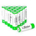 LiBatter 16Pack AA 2850mAh Ni-MH Rechargeable Batteries High Capacity