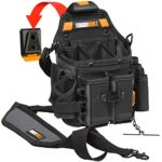 ToughBuilt – Journeyman Electrician Pouch + Shoulder Strap, Adjustable Flashlight Holder, Adjustable Tool Pockets, 21 Pockets and Loops, (Patented ClipTech Hub & Belts) (TB-CT-114-2)
