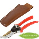 "Truly Garden Pruning Shears – 8"" Premium Titanium Bypass Pruning Shears With Leather Case, Aluminum With Coated Handle For Easy Grip, Hand Pruners, Tree Trimmer, Garden Clippers, Flower Cutter"