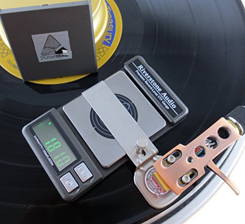 Riverstone Audio Precision Record-Level Turntable Stylus Tracking Force Pressure Gauge / Scale 100g, 0.005g Resolution, Measures VTF at Correct LP Record Level Height (2 mm to 3 mm) Color: Graphite